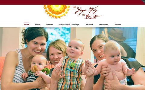 Screenshot of Home Page yogawaytobirth.com - Yoga Way To Birth - captured Feb. 28, 2016