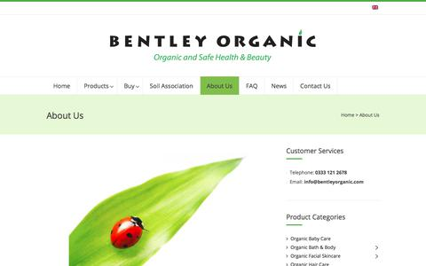 Screenshot of About Page bentleyorganic.com - About Us - Bentley Organic - captured Aug. 1, 2018