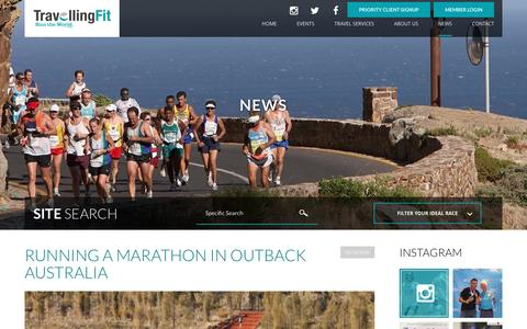 Screenshot of Press Page travellingfit.com - News - Travelling Fit - captured Dec. 14, 2016