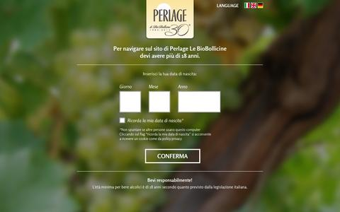 Screenshot of Press Page perlagewines.com - Area news | Perlage - captured Dec. 8, 2015