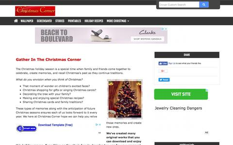 Screenshot of Home Page christmas-corner.com - Christmas Corner : Helping Create Christmas Memories For Families - captured June 30, 2018