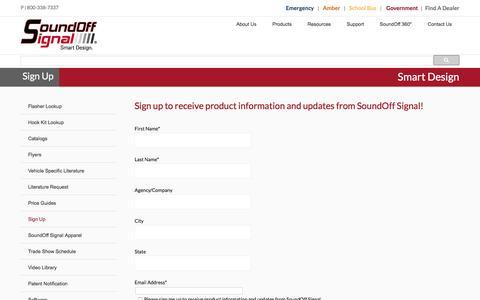 Screenshot of Signup Page soundoffsignal.com - Sign Up || SoundOff Signal - captured Aug. 15, 2016