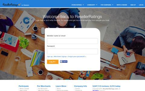 Screenshot of Login Page resellerratings.com - Login to your account | ResellerRatings - captured Oct. 29, 2015