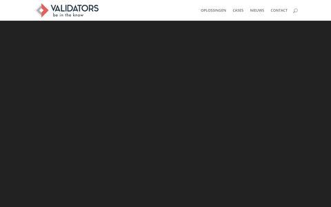Screenshot of Home Page validators.nl - Validators | be in the know - captured Nov. 17, 2018