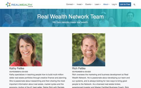 Screenshot of Team Page realwealthnetwork.com - About Real Wealth Network   Meet Our Founders & Team - captured Aug. 19, 2019