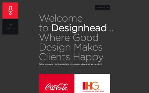 Screenshot of Home Page design-head.com - DESIGNHEAD // graphic design + identity + web design - captured Sept. 30, 2014