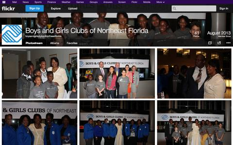 Screenshot of Flickr Page flickr.com - Flickr: boysandgirlsclubsofnortheastflorida's Photostream - captured Oct. 23, 2014