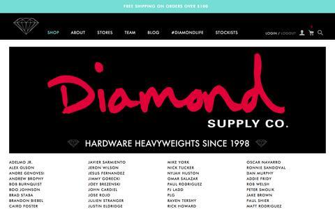 Screenshot of Team Page diamondsupplyco.com - Team / Diamond Supply Co. - captured Dec. 31, 2015