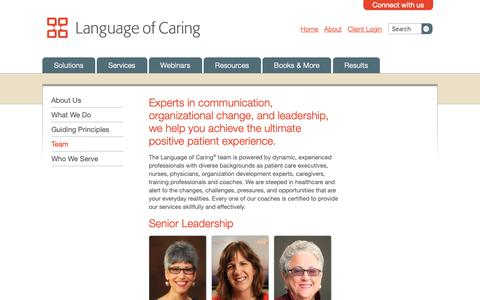 Screenshot of Team Page languageofcaring.com - Team Of Experts In Communication And Leadership | Language of Caring - captured Sept. 27, 2018
