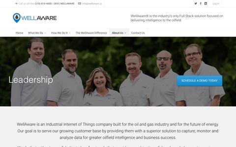 Screenshot of Team Page wellaware.us - Leadership - WellAware - captured Oct. 19, 2018
