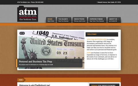 Screenshot of Home Page atmthebottomline.com - Welcome to atmTheBottomLine! - captured March 8, 2016