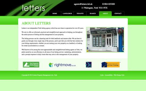 Screenshot of About Page letters.ltd.uk - Letting Agents, York | York Rental Property | About Letters - captured Oct. 2, 2014