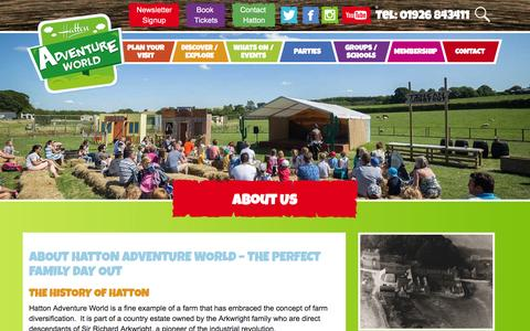 Screenshot of About Page hattonworld.com - About Us | Hatton Adventure World | Perfect family day out - captured Jan. 12, 2017
