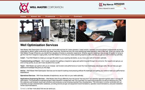 Screenshot of Services Page wellmaster.com - Well Optimization Services | Well Master Corporation - captured Nov. 8, 2017
