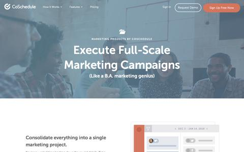 Marketing Projects From CoSchedule