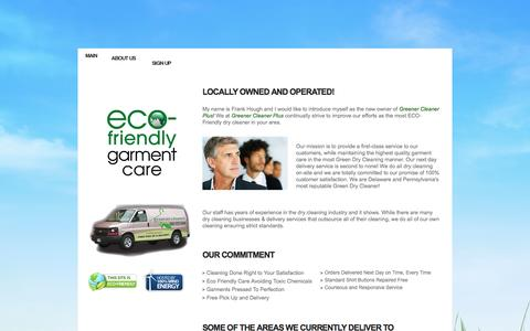 Screenshot of About Page greenercleanerplus.com - Greener Cleaner Plus! - About Us - captured Sept. 30, 2014