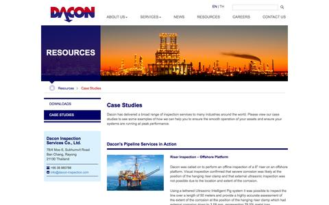 Screenshot of Case Studies Page dacon-inspection.com - Case Studies | Dacon Inspection Services - captured Nov. 3, 2014