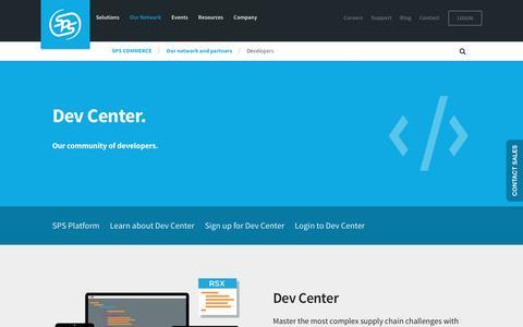 Screenshot of Developers Page spscommerce.com - Developers | SPS Commerce - captured Jan. 8, 2017