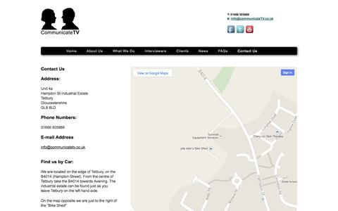 Screenshot of Contact Page communicatetv.co.uk - Communicate TV - captured Sept. 30, 2014