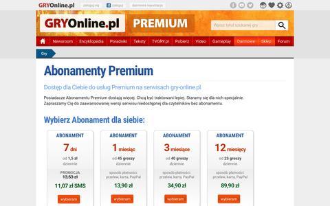 Abonamenty Premium GRY-Online.pl | GRYOnline.pl