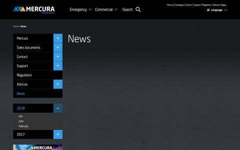 Screenshot of Press Page mercura.fr - News - Mercura - captured July 25, 2018