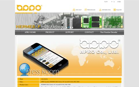 Screenshot of Press Page apro-tw.com - APRO PressRoom - captured Oct. 27, 2014