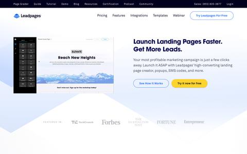 Leadpages Landing Page Builder & Lead Gen Software