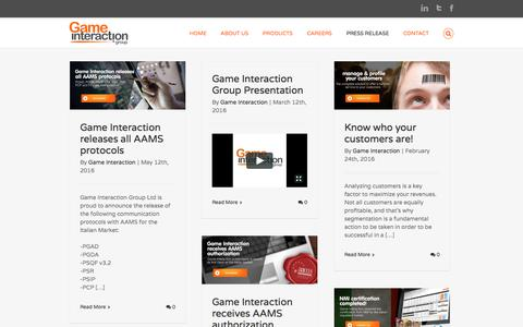 Screenshot of Press Page gameinteraction.com - Press | Game Interaction Group - captured Oct. 26, 2016