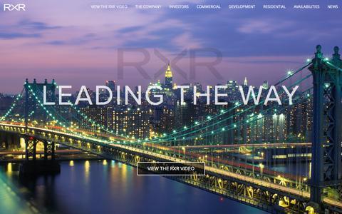 Screenshot of Home Page rxrrealty.com - RXR Realty - captured Jan. 11, 2016