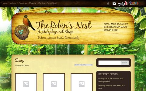 Screenshot of Products Page therobinsnestma.com - Products Archive - The Robin's Nest - captured Sept. 27, 2018