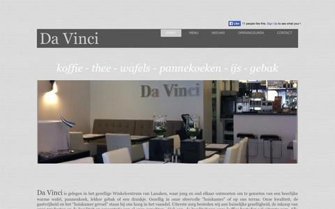 Screenshot of Home Page davinci-lanaken.be - Start - captured Sept. 30, 2014