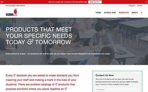 Screenshot of Products Page schooldeskus.com - Products - SchoolDesk - captured Jan. 27, 2017