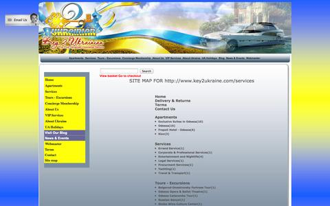 Screenshot of Site Map Page key2ukraine.com - Key2Ukraine. the First Concierge Service in Ukraine. - captured Sept. 30, 2014