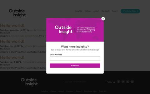 Outside Insight Book |