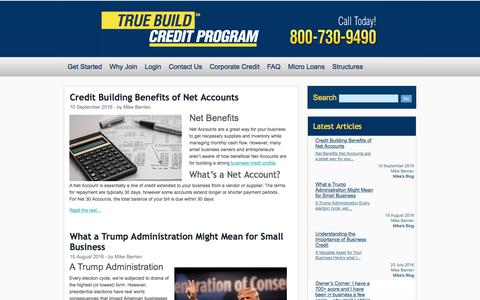 Screenshot of Blog corpcredit.net - Corporate Business Credit Blog - Credit Building Industry News, Tips & Updates - captured Sept. 27, 2017