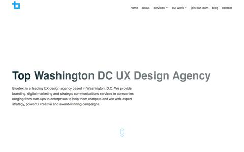 Top Washington DC UX Design Agency | Bluetext