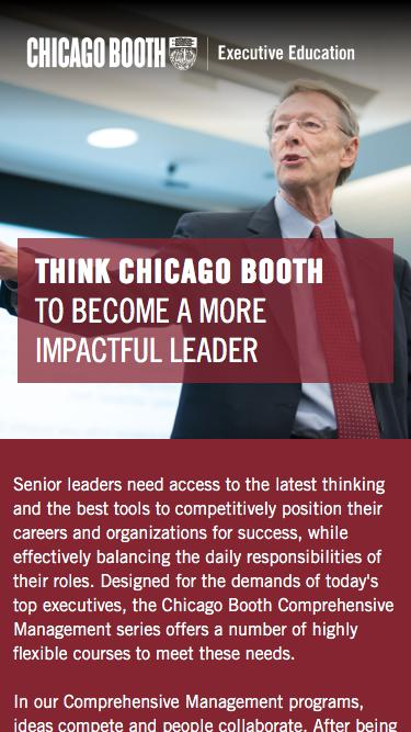 Executive Education at Chicago Booth | Management Courses