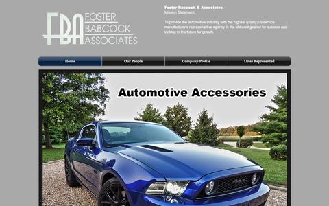 Screenshot of Home Page fosterbabcock.com - Foster Babcock & Associates - captured Feb. 10, 2016