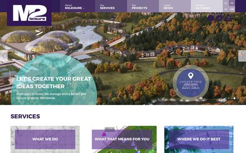 Screenshot of Home Page m2leisure.com - Leisure consultants worldwide | M2Leisure - captured Sept. 29, 2017