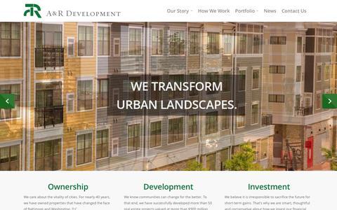 Screenshot of Home Page ar-companies.com - Home - AR Development - captured Aug. 1, 2015