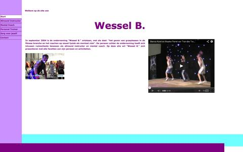 Screenshot of Home Page wesselb.com - Wessel B. - captured Oct. 7, 2014