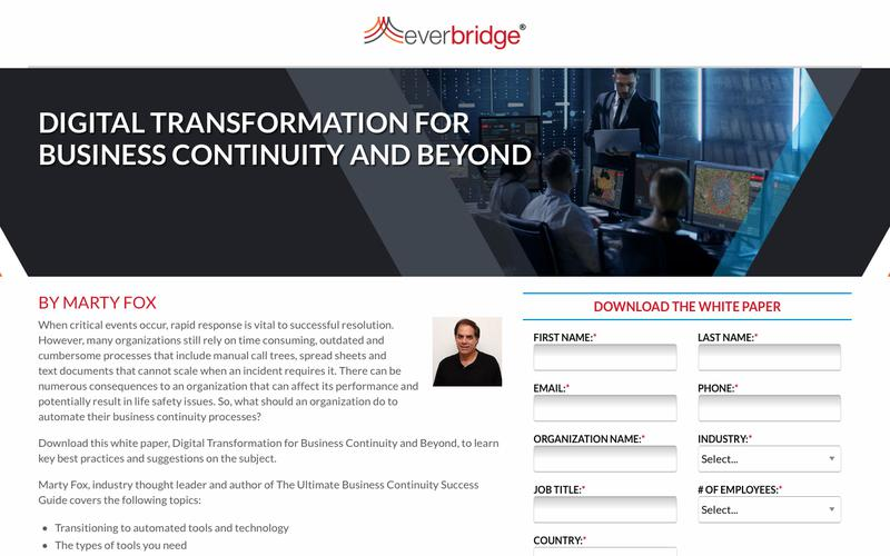 Digital Transformation Business Continuity