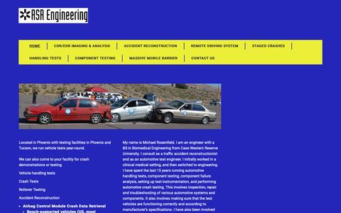 Screenshot of Home Page rsr-engineering.com - Home | RSR Engineering | LLC - captured Oct. 19, 2018
