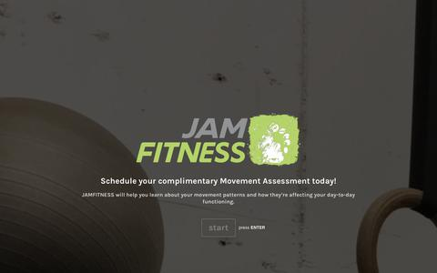 Screenshot of Signup Page typeform.com - Movement Assessment - captured July 25, 2018