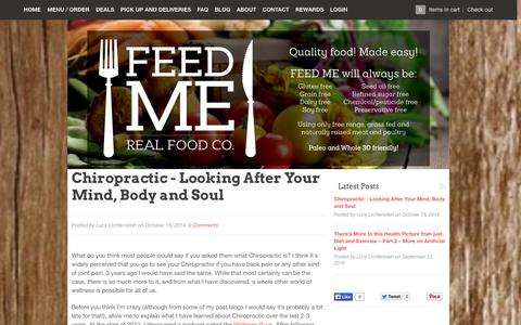 Screenshot of Blog feed-me.com.au - Feed Me : Real Food Co. – Feed Me - Real Food Co. - captured Nov. 3, 2014