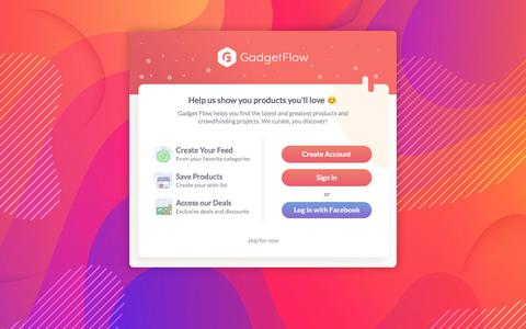 Screenshot of Login Page thegadgetflow.com captured May 4, 2018