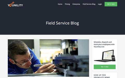Screenshot of Blog younility.com - Field Service Blog - Younility - captured July 19, 2018