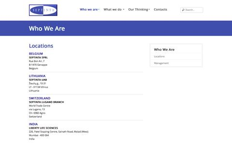 Screenshot of Locations Page septinta.be - Locations - Septinta - captured Sept. 30, 2014
