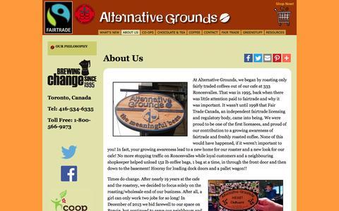 Screenshot of About Page alternativegrounds.com - About Us   Alternative Grounds - captured Nov. 20, 2016