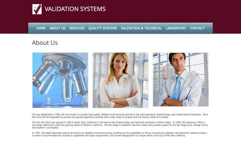 Screenshot of About Page validationsystems.com - validationsystems   ABOUT US - captured Oct. 19, 2018